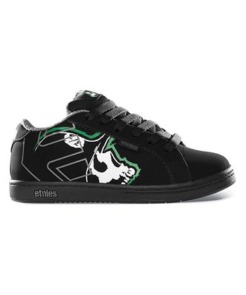 Black & Green Metal Mulisha Fader Sneaker