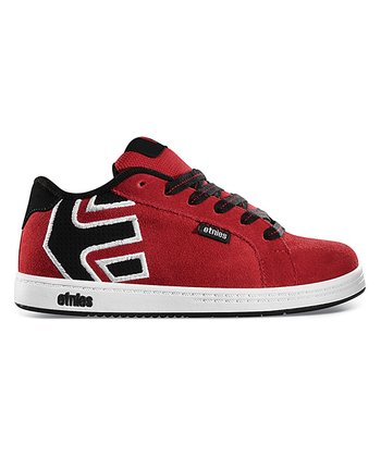 etnies Red & Black Fader Sneaker