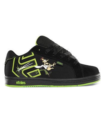 Black & Green Disney Light-Up Fader Sneaker