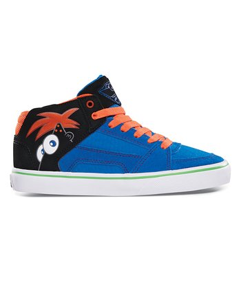 Black & Orange Disney RVM Vulcan Hi-Top Sneaker