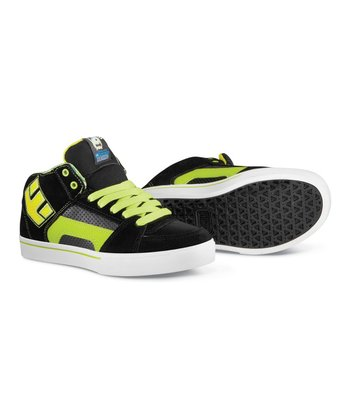 Black & Green Disney Monsters RVM Leather Sneaker