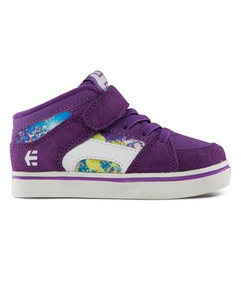 Purple & White RVM Vulcan Strap Hi-Top Sneaker