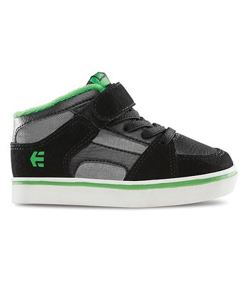 Black & Green RVM Hi-Top Sneaker