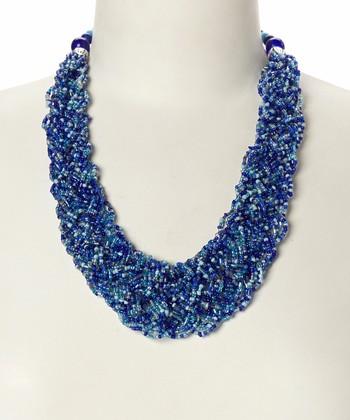 Blue & Silver Ocean Wave Necklace
