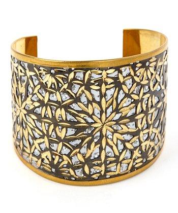 Gold Sunburst Cuff