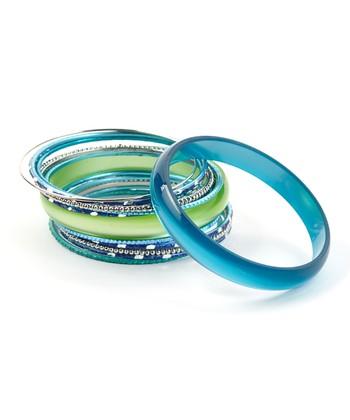 Blue & Green Seaside Bangle Set
