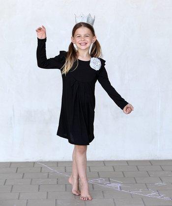 Black Jenna Dress - Girls