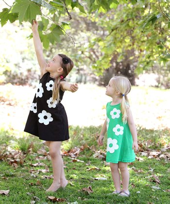Black & Ivory Audrey Swing Dress - Toddler & Girls
