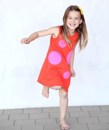 Orange & Pink Mod Swing Dress - Toddler & Girls