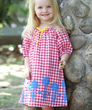Red & Blue Gingham Ella Dress - Toddler & Girls