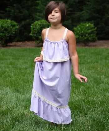 Lavender Maxi Dress - Girls