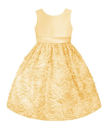 Yellow Floral  Dress - Toddler, Girls & Girls' Plus