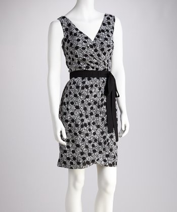 Black & White Sash Dress - Women