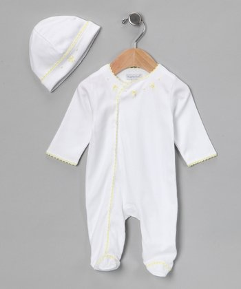 Yellow Little Luxury Footie & Beanie - Infant