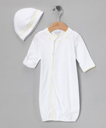 Yellow Little Luxury Gown & Beanie - Infant