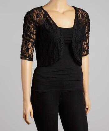 Black Lace Bolero - Plus