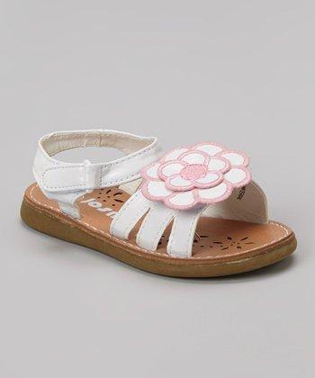 Josmo White & Pink Floral Sandal