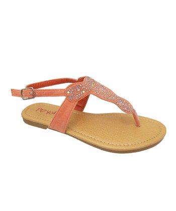 Peach Rowena Sandal