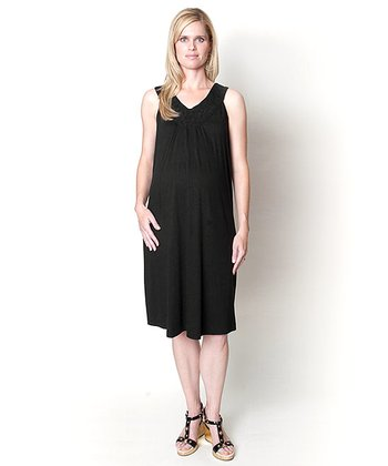 Black Tyra Maternity Dress