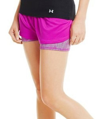 Strobe Pink Contend Two-in-One Shorts
