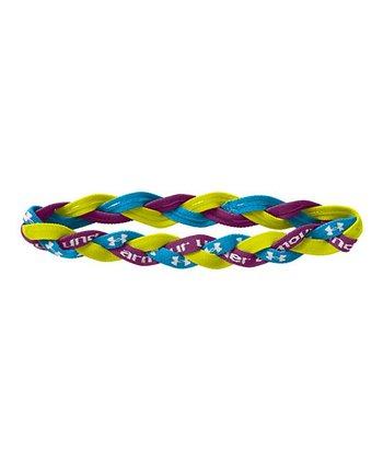 High-Vis Yellow & Purple Braided Mini Headband