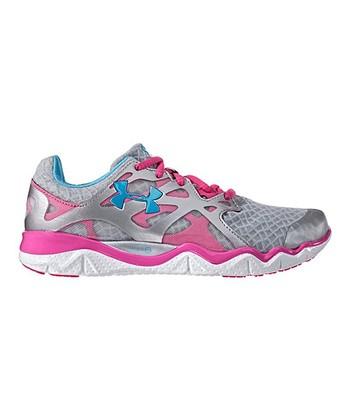 Metallic Silver Micro G® Monza Running Shoe