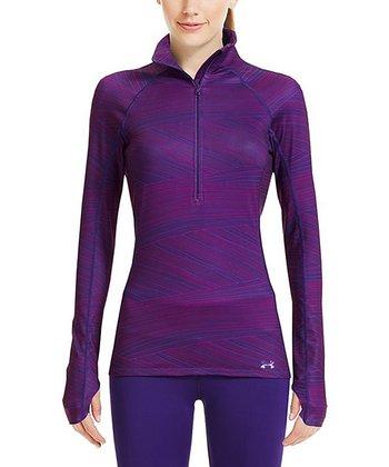 Purple Rain Cozy Printed Half-Zip Pullover