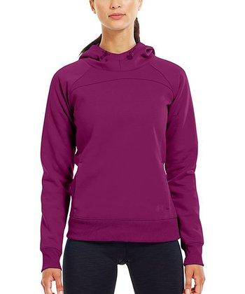 Aubergine ColdGear® Infrared Armour® Fleece Storm Hoodie