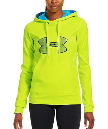High-Vis Yellow Armour® Fleece Storm Big Logo Hoodie