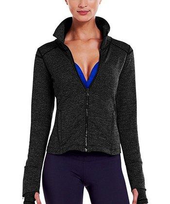Black Heather StudioLux® Cozy Jacket