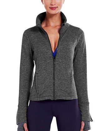 Carbon Heather StudioLux® Cozy Jacket