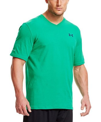 Astro Green Charged Cotton® V-Neck Tee - Men