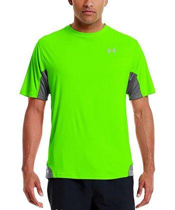 Hyper Green Heatgear® Flyweight Run Top - Men