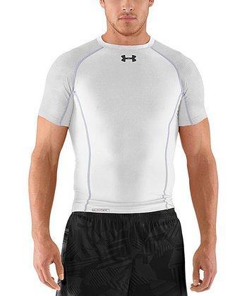 White Heatgear® Renegade Compression Top - Men & Tall