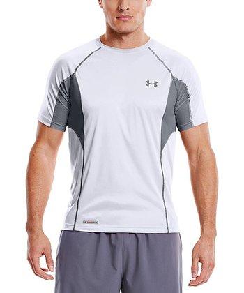 White Heatgear® Flyweight Fitted Top - Men & Tall