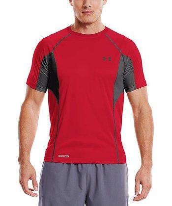 Red Heatgear® Flyweight Fitted Top - Men & Tall