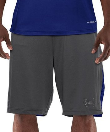 Graphite & Blue Coldblack® 2-A-Day Football Shorts - Men & Tall