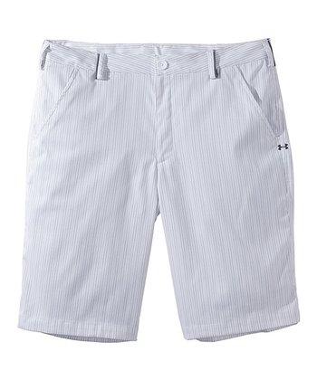 White Forged Stripe 3.0 Shorts - Men