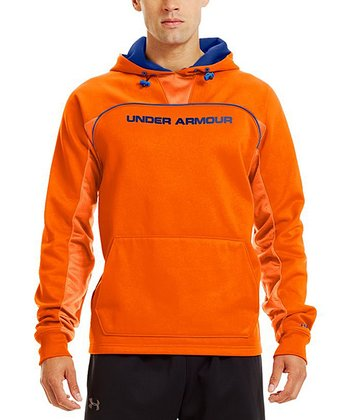 Blaze Orange Armour® Fleece Storm Doinit Hoodie - Men
