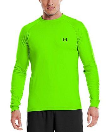 Hyper Green ColdGear® Infrared Crewneck Top - Men & Tall