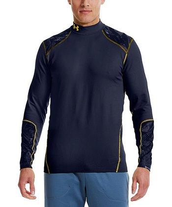 Midnight Navy ColdGear® Infrared Evo Fitted Mock Neck Top - Men