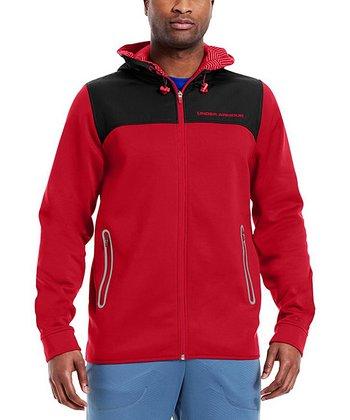 Red ColdGear® Infrared Armour® Fleece Storm Full-Zip Hoodie - Men