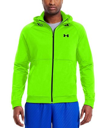 Hyper Green Stamina Hooded Track Jacket - Men