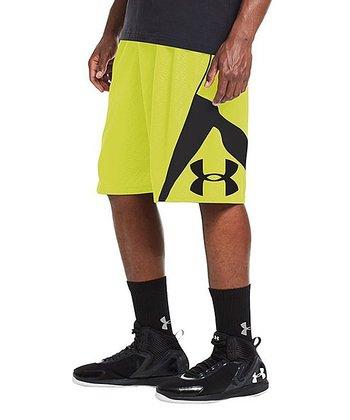 High-Vis Yellow EZ Mon-Knee Basketball Shorts - Men