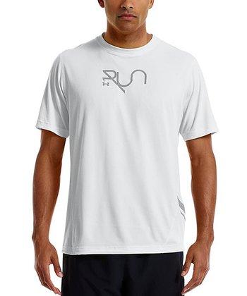 White Run Reflective Tee - Men & Tall