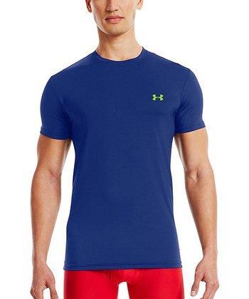 Bauhaus Blue HeatGear® Flyweight Undershirt - Men