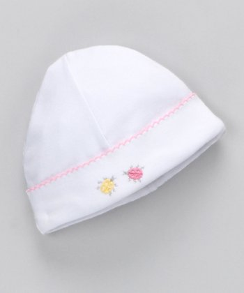 Pink Nursery Time Embroidered Beanie
