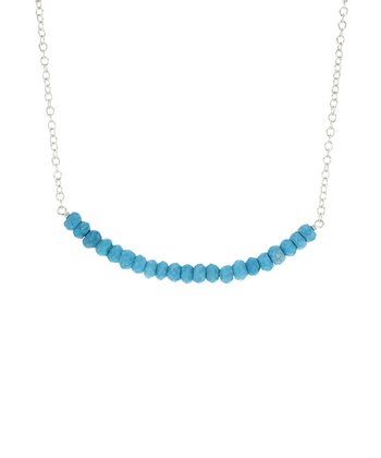 Turquoise & Sterling Silver Seed Stone Necklace