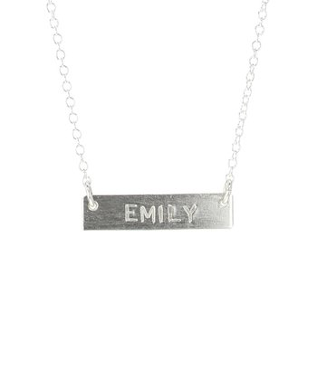 Sterling Silver Short Bar Personalized Necklace