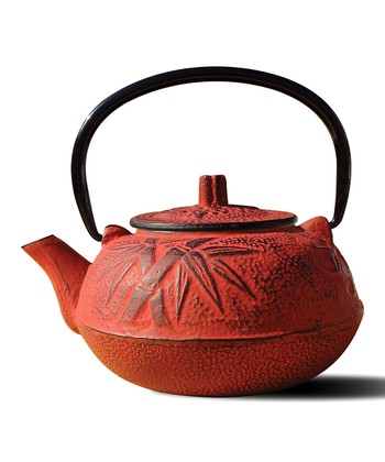 Red Cast Iron Osaka Teapot